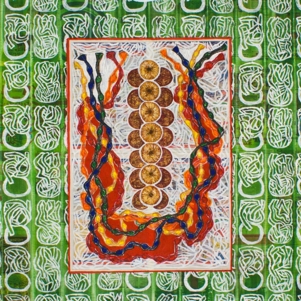Berna - Festa della Cipolla (2007/8), 230 x 182 cm, acrylic on newspaper, inv. PH436