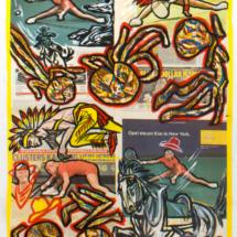 Kim Clijsters: ik geef mezelf een acht (2004/5), 101,5 x 72 cm, acrylic on newspaper, inv. PH458R