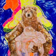 Maestro (1996), 216 x 150 cm, acrylic on canvas, inv. PH747