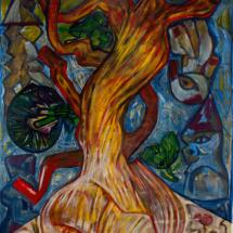 Senza titolo (2009), acrylic on canvas, 217 x 160 cm, inv. PH008