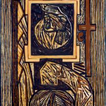 Cornice (2011), 217 x 120 cm, acrylic on canvas, inv. PH181