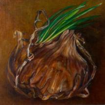Onion (1994/95), 22 x 22 cm each, oil and acrylic on Masonite, inv. PH253C