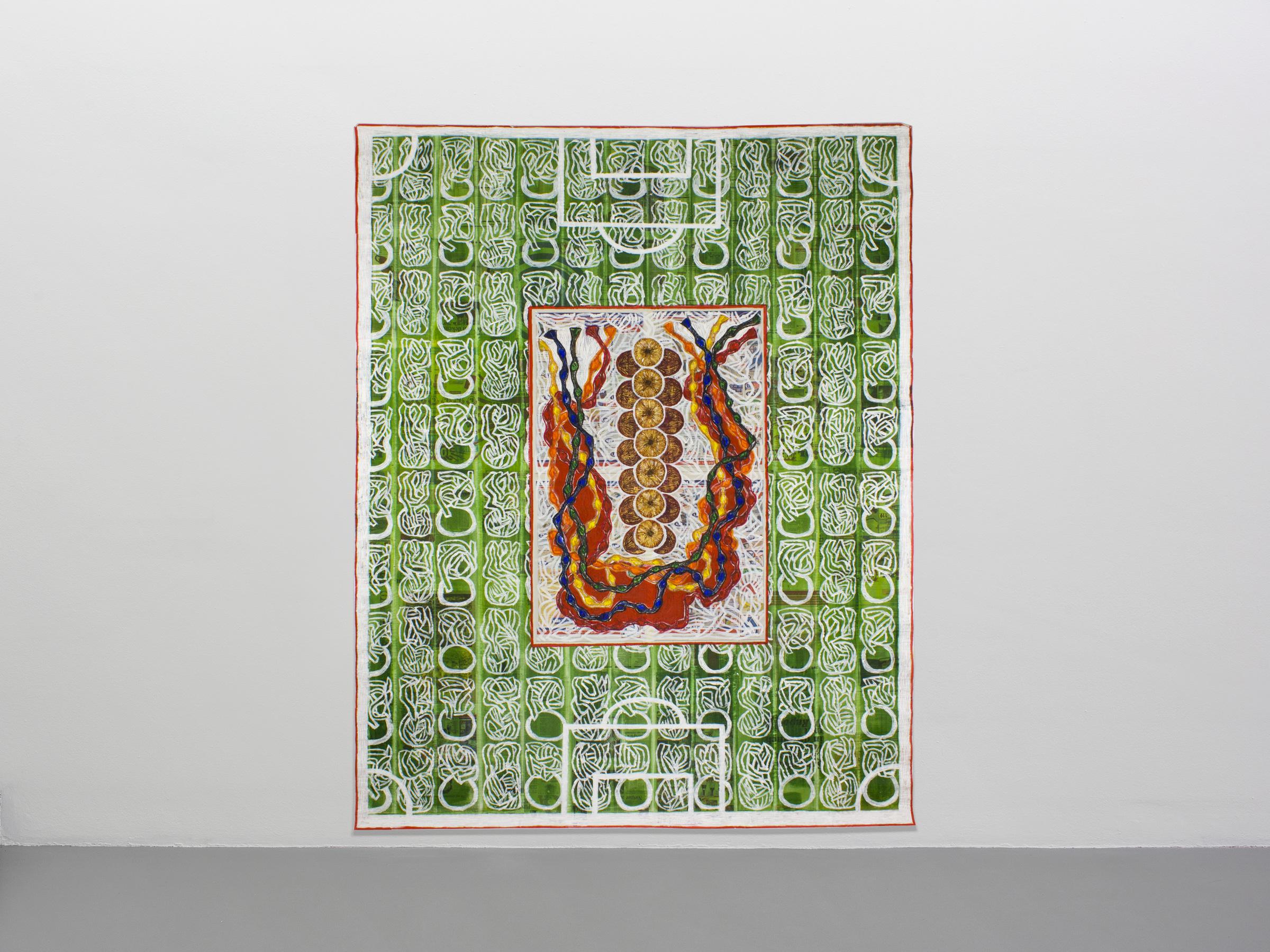 Berna – Festa della Cipolla (2007/8), 230 x 182 cm, acrylic on newspaper, inv. PH436