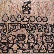 Senza titolo (2013), 200 x 300 cm, acrylic on newspaper on canvas, inv. PH781