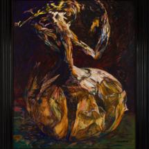 Onion (1997), 197 x 163 cm, acrylic and oil on canvas, inv. PH783