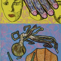 Essere-Apparire (2001), 155 x 62 cm, acrylic on paper, inv. PH803